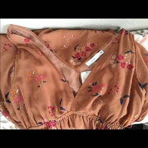 NWT Lush Autumn Garden Dress with Side Ties